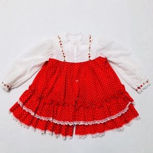 5/$25 Vintage baby girls party dress 18-24 M
